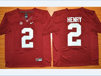 Mens Ncaa Nfl Alabama Crimson #2 Derrick Henry Red Diamond Quest College Football Jersey
