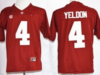 Mens Ncaa Nfl Alabama Crimson #4 T.j Yeldon Red Diamond Quest College Football Jersey