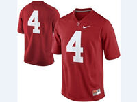 Mens Ncaa Nfl Alabama Crimson #4 T.j Yeldon Red Jersey(no Name)