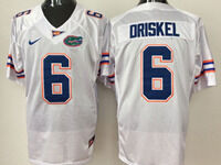 Mens Ncaa Nfl Florida Gators #6 Jeff Driskel White Jersey