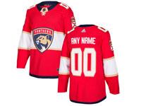 Mens Nhl Florida Panthers Custom Made Red Adidas Jersey