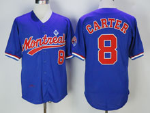 Mens Mlb Montreal Expos Custom Made Montreal Blue Throwbacks Jersey
