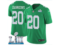 Mens Women Youth Nfl Philadelphia Eagles #20 Brian Dawkins Light Green 2018 Super Bowl Lii Bound Vapor Untouchable Limited Jersey