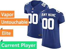 Mens New York Giants Blue Vapor Untouchable Elite Current Player Jersey