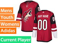 Mens Women Youth Adidas Arizona Coyotes Red Home Current Player Jersey