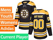 Mens Women Youth Adidas Boston Bruins Black Home Current Player Jersey