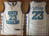 Mens Ncaa Nba North Carolina Custom Made White Jersey