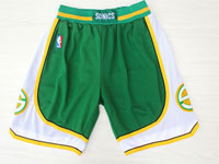 Mens Nba Adidas Seattle Supersonics Green Mesh Shorts