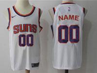 Mens Nba Phoenix Suns Custom Made White Home Nike Jersey