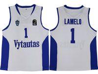 Nba Lithuania Vytautas #1 Lamelo Movie Basketball White Jersey