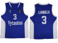 Nba Lithuania Vytautas #3 Liangelo Movie Basketball Blue Jersey