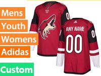 Mens Women Youth Adidas Arizona Coyotes Custom Made Red Home Jersey