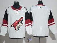 Mens Nhl Arizona Coyotes Blank White Adidas Away Jersey