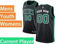 Mens Women Youth Nba Boston Celtics Boston Black Statement Edition Nike Current Player Swingman Jersey