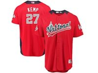 Mens Los Angeles Dodgers #27 Matt Kemp 2018 Mlb All Star Game National League Red Cool Base Jersey