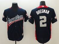 Mens Tampa Bay Rays #2 Alex Bregman 2018 Mlb All Star Game American League Navy Cool Base Jersey