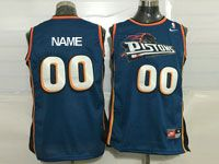 Mens Nba Detroit Pistons Custom Made Blue Nike Mesh Jersey