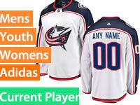 Mens Nhl Columbus Blue Jackets White Away Premier Current Player Adidas Jersey