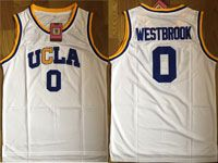 Mens Ncaa Nba Ucla Bruins Custom Made White College Basketball Authentic Jersey