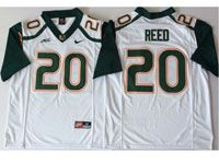 Mens Ncaa Nfl 2018 Miami Hurricanes #20 Ed Reed White Game Jersey