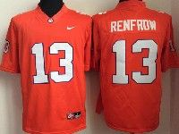 Mens Ncaa Nfl Clemson Tigers #13 Renfrow Orange Limited Jersey