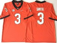 Mens Ncaa Nfl Georgia Bulldogs #3 Smith Red Jersey