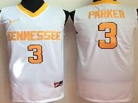 Mens Ncaa Nba  Tennessee Volunteers #3 Parker White Jersey