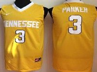 Mens Ncaa Nba  Tennessee Volunteers #3 Parker Yellow Jersey