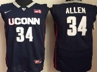 Mens Ncaa Nba Uconn Huskies #34 Allen Navy Blue Jersey