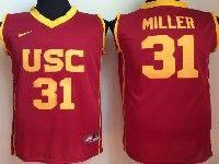 Mens Ncaa Nba Usc Trojans #31 Miller Red Jersey