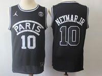 Mens Nba Movie Aj Psg Paris Saint Germain #10 Mj Neyma Basketball Balck Jersey
