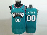 Mens Nba Memphis Grizzlies Custom Made Green Hardwood Classics Mesh Jersey
