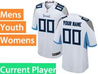 Mens Women Youth Nfl Tennessee Titans Current Player Vapor Untouchable Limited White Jersey