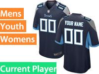 Mens Women Youth Nfl Tennessee Titans Navy Blue Current Player Vapor Untouchable Limited Jersey