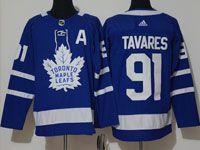 Mens Women Youth Nhl Toronto Maple Leafs #91 John Tavares Royal Blue Home Adidas Jersey