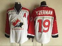 Mens Nhl Team Canada #19 Steve Yzerman White (2002 Olympics) Nike Throwback Jersey