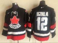 Mens Nhl Team Canada #12 Jarome Iginla Black 2006 Olympics Nike Throwback Jersey