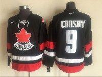 Mens Nhl Team Canada #9 Sidney Crosby Black 2006 Olympics Nike Throwback Jersey