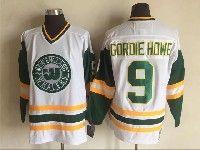 Mens Nhl Hartford Whalers #9 Gordie Howe White New Throwbacks Jersey