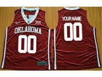 Mens Ncaa Nba Oklahoma Sooners Custom Made Red College Basketball Jersey