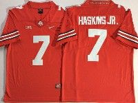 Mens Ncaa Nfl Ohio State Buckeyes #7 Dwayne Haskins Jr. Red Vapor Untouchable Limited Jersey