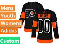 Mens Philadelphia Flyers Custom Made Black Alternate Adidas Jersey