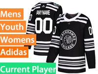 Mens Nhl Chicago Blackhawks Current Player Black 2019 Winter Classic Adidas Jersey
