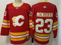 Mens Adidas Nhl Calgary Flames #23 Sean Monahan Red Alternate Jersey