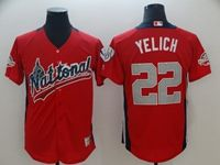 Mens Mlb Milwaukee Brewers #22 Christian Yelich 2018 Mlb All Star Game American League Red Cool Base Jersey
