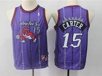 Youth Nba Toronto Raptors #15 Vince Carter Purple Hardwood Classics Jersey