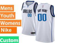 Mens Nba Dallas Mavericks Custom Made White Swingman Nike Jersey