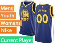 Mens Nba Golden State Warriors Current Player Blue Swingman Nike Jersey