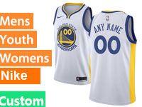 Mens Nba Golden State Warriors Custom Made White Swingman Nike Jersey