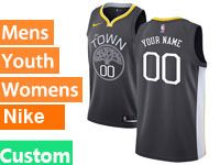 Mens Nba Golden State Warriors Custom Made Nike Black Statement Edition Swingman Jersey